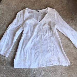 Ann Taylor Embroidered/Sequin Blouse